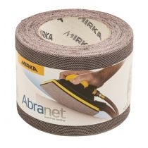 9A-110-320, Mirka Abranet 4-1/2 in. x 10 yd. Mesh Grip Roll 320G, Qty. 1