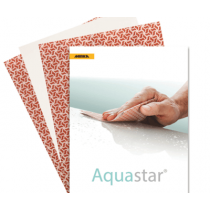 FW-104-2000, Mirka Aquastar 9 x 11 Film Backed Abrasive Finishing Sheet, P2000, qty.50