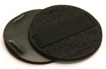 Mirka Vinyl Faced Hand Pad With Strap, 5 dia. 1/4 in.thick, Qty 2 - MK105HP