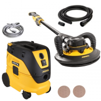 MIW950-DE1230-4, Mirka Leros 950CV, 9in, 5mm Orbit, Electric Random Orbital Drywall Sander & Dust Extractor Set