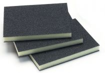 1351-320, Mirka 3.75 in. x 4.75 in. x 0.5 in. Double Sided Abrasive Sponge 320G, Qty. 10