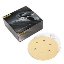 23-624-100, Mirka Gold 6 in. 6 Hole Grip Vacuum Disc 100G, Qty. 50