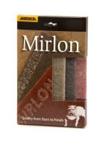 18-118-APRP, Mirka Mirlon Total 4-1/2 in.x 9 in. Assorted Scuff Pad (Red, Gray, and Gold) Qty 3
