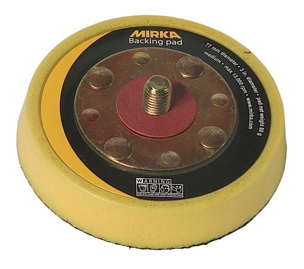 103, Mirka Vinyl Faced Backup Pad, 3 in 5/16 x 24 in spindle, Qty 1