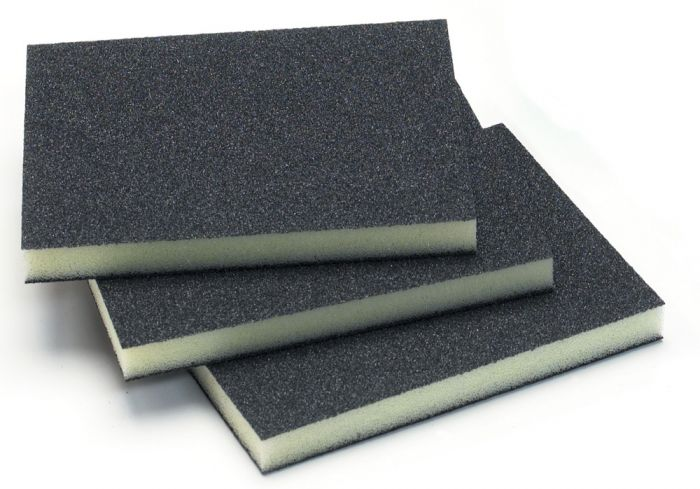 1351-150, Mirka 3.75 in. x 4.75 in. x 0.5 in. Double Sided Abrasive Sponge 150G, Qty. 10