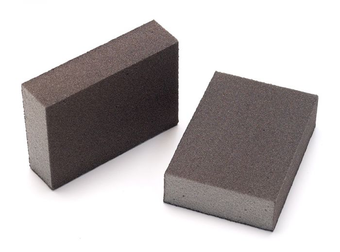1353-100B, Mirka 2.75 in.x 3.94 in.x 1 in.Four Sided Abrasive Sponge 100G, Qty 100