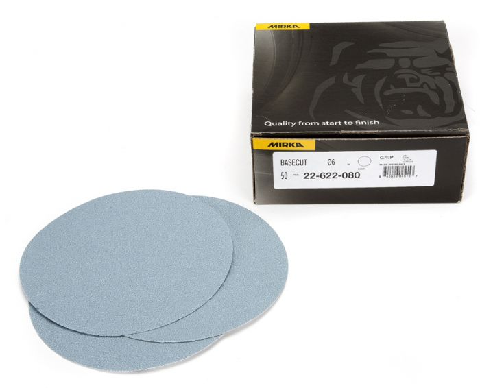 22-622-100, Mirka BaseCut 6 in Grip Disc 100G, Qty. 50