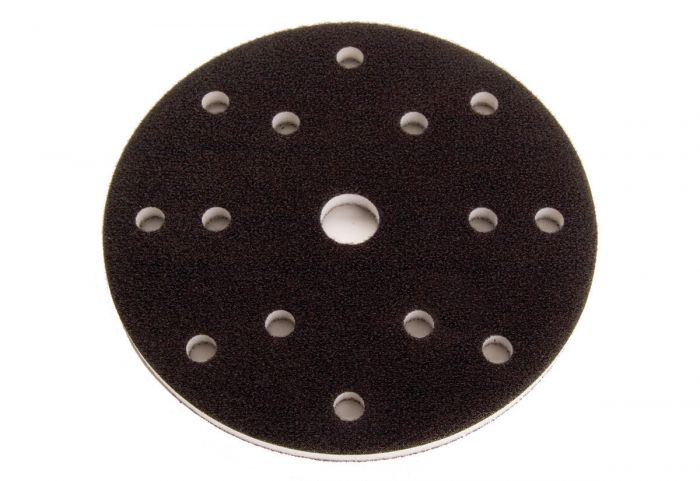 1066F, Mirka Grip Firm Faced Interface Pad, 6 dia. 3/8 in.thick , Qty 5