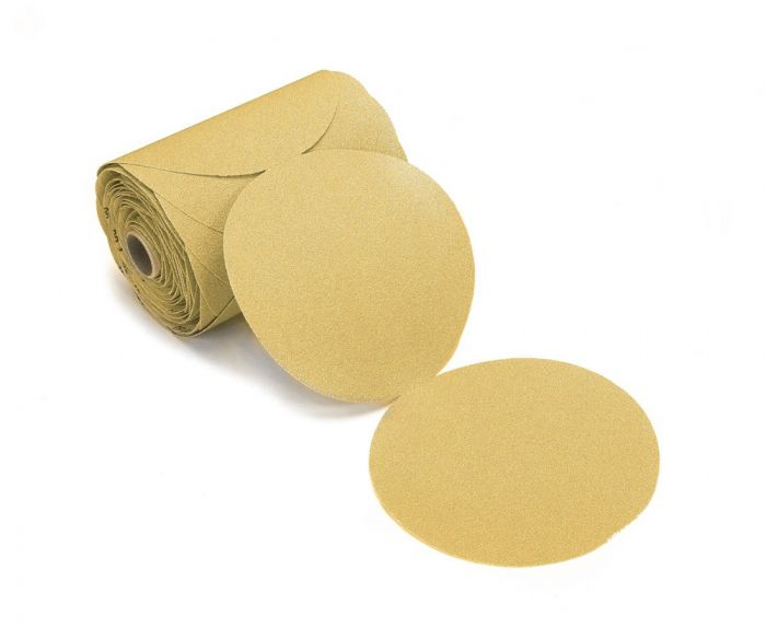 23-314-600NL, Mirka Gold 5 in. PSA Linkrol Disc 600G without Liner, Qty. 100